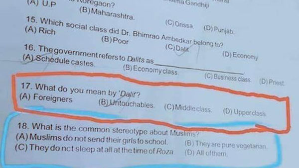 Tamil Nadu: Stalin Fumes As CBSE Paper Asks Questions on Dalits and Muslims