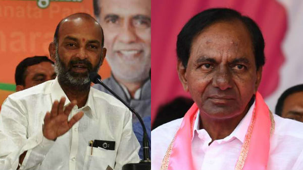 bandi sanjay fire on cm kcr