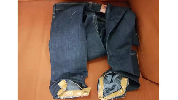 Man held for smuggling gold paste in jeans