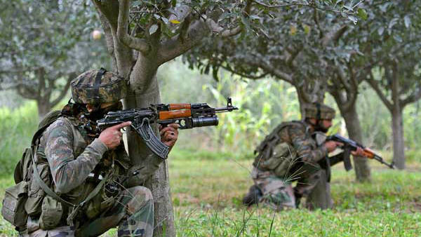 an encounter is underway between security forces and terrorists in Pulwama district
