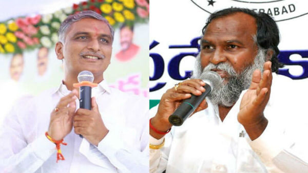 jaggareddy sensational comments about harish rao