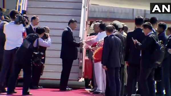 Grand Welcome For Xi At Chennai Airport Ahead Of Meet With PM