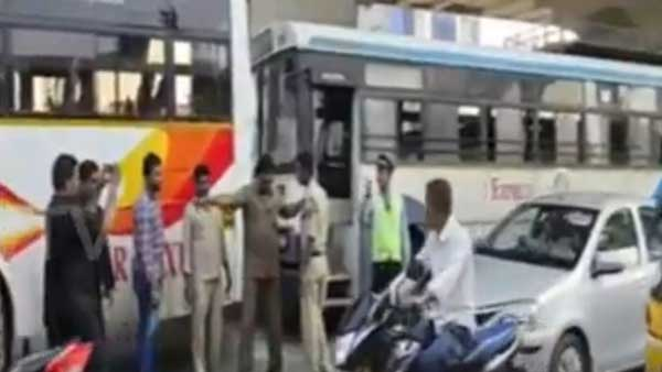 Amid the RTC strike, two busses collide in Kukatpally, Driver under alcohol