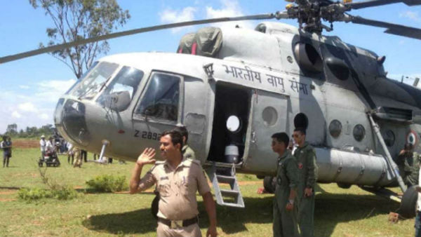 Mi-17 helicopter of Indian Air Force makes emergency landing in Mandya; officials blame technical snag