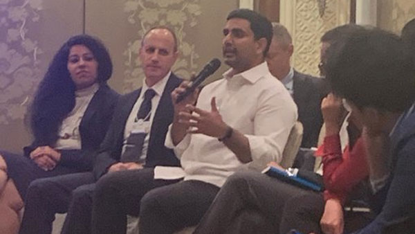 Former Minister Nara Lokesh participated in India economic summit at New Delhi