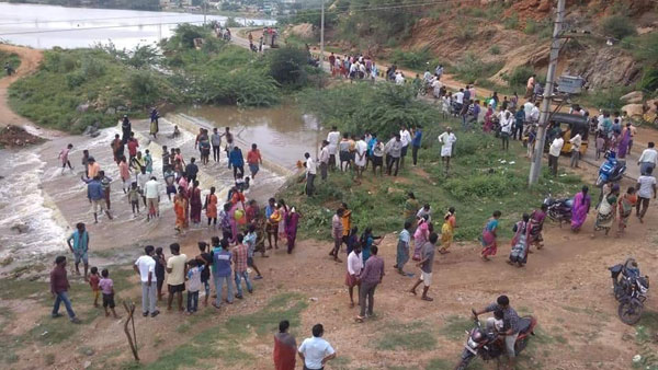 heavy rains in Rayalaseema region in Andhra Pradesh creates new water falls across the four districts