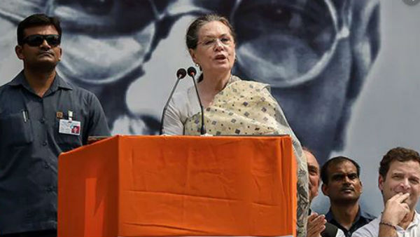 Gandhi's soul would be pained… some want RSS to be synonymous with India: Sonia