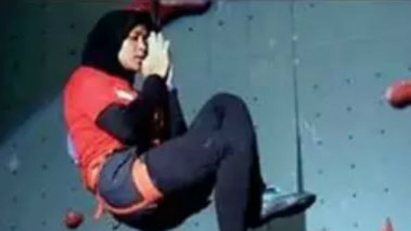 Spiderwoman breaks womens climbing speed record break