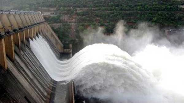 Crest Gates of Srisailam Reservoir once again lifted