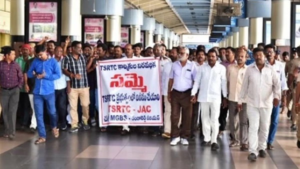 TSRTC Strike: Private driver attacked by RTC Employees