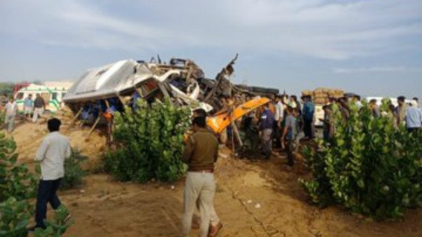 14 Killed as bus, truck collide near Bikaner in Rajasthan