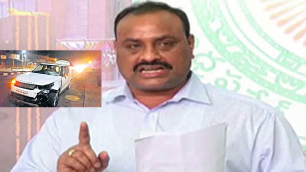 Achamnaidu met an accident in Vizag..he is safe