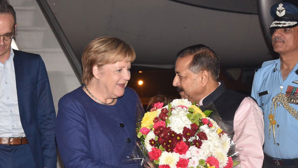 German Chancellor Angela Merkel in India, to meet PM Modi likely to sign few agreements