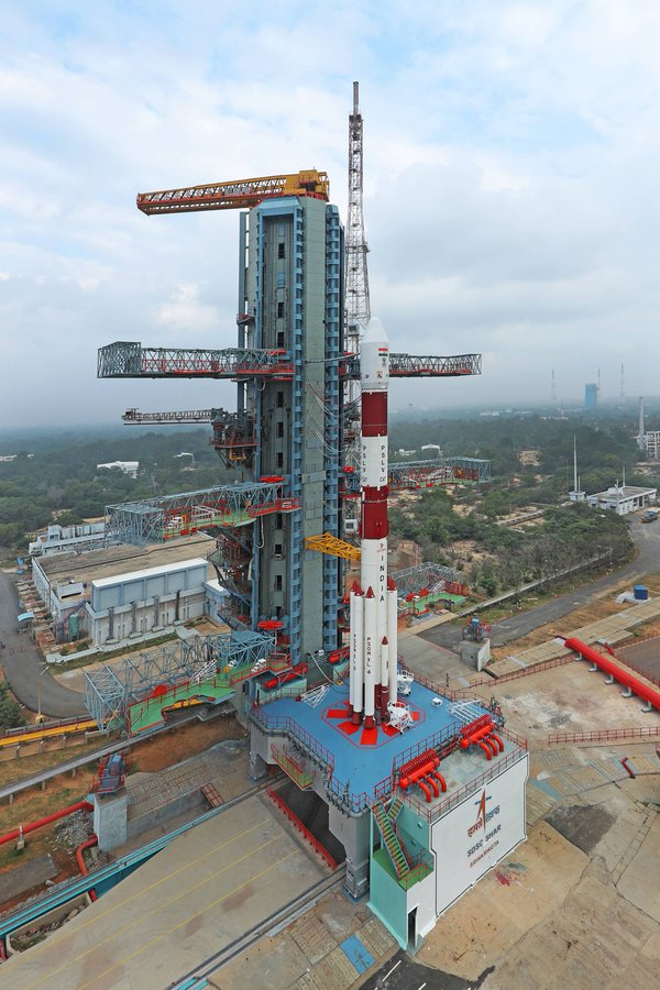 ISRO to launch PSLV C47 carrying Cartosat 3 and 13 nano-satellites from Shar center at Sriharikota