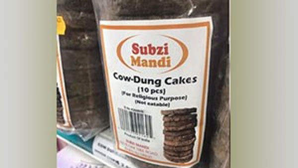 Demand for cow dung cakes in America .. interesting matter on packet