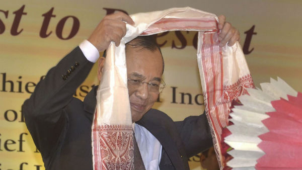 After Land mark Judgement on Ayodhya Case, CJI Ranjan Gogoi with his Wife Visits Kamakhya Temple in Guwahati.