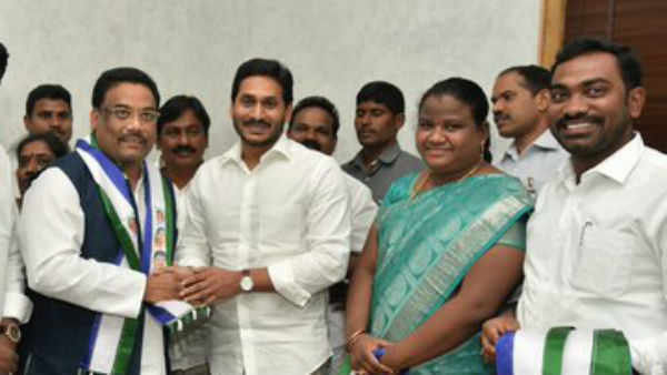 AP SC ST Commission former Chairman Karem Sivaji has joined in ruling YSR Congress Party