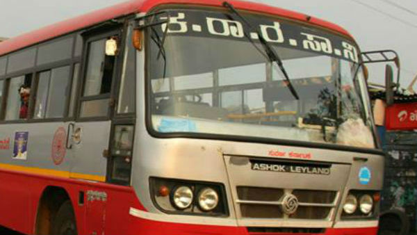 KSRTC bus conductor pushed a girl student from running bus in Bengaluru.