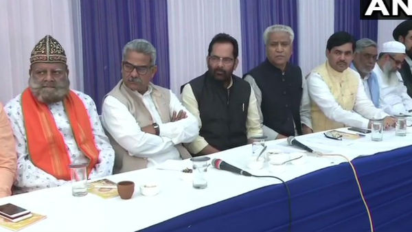 Ayodhya land dispute case: RSS, Muslims clerics participate in a meeting at Union ministers Home at New Delhi