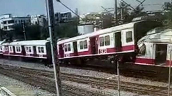 viral video of train Accident in Kacheguda