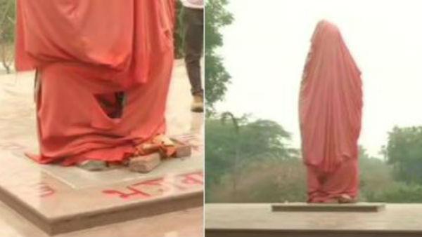 కలకలం: ఢిల్లీ జేఎన్యూలో వివేకానంద విగ్రహం ధ్వంసం, విద్వేషపూరిత రాతలు