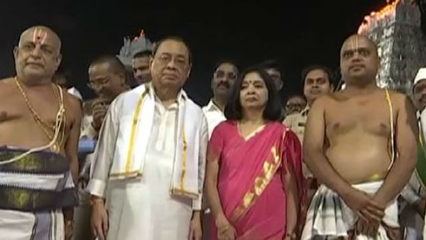 supreme Court Chief Justice Ranjan Gogoi visited Thirumala