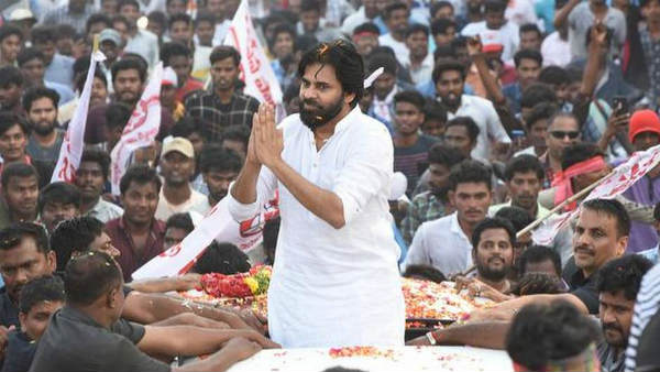 Once again police restricted pawan Kalyan with out entering him in to Mandadam village