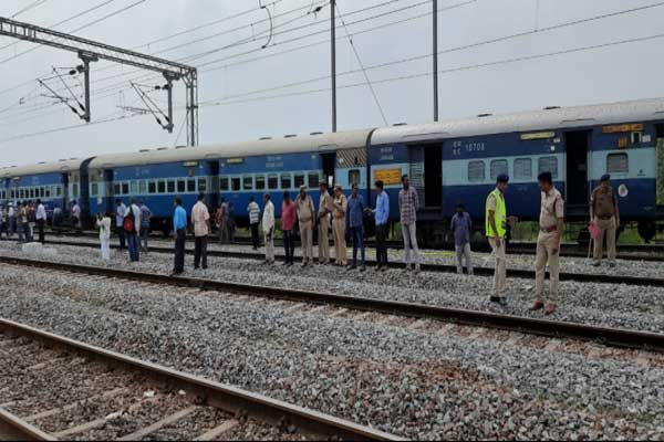 Express train between Tirupati and Shirdi was derailed at Railway Kodur Station in Kadapa district, no casualties reported