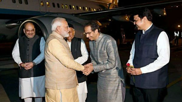 Uddhav Thackeray meets PM Narendra Modi for the first time after becoming CM
