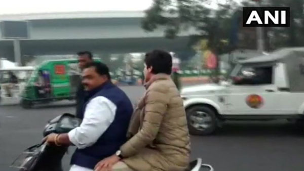 Priyanka Gandhi Vadra has been challaned with a penalty of Rs 6300 for not wearing helmets