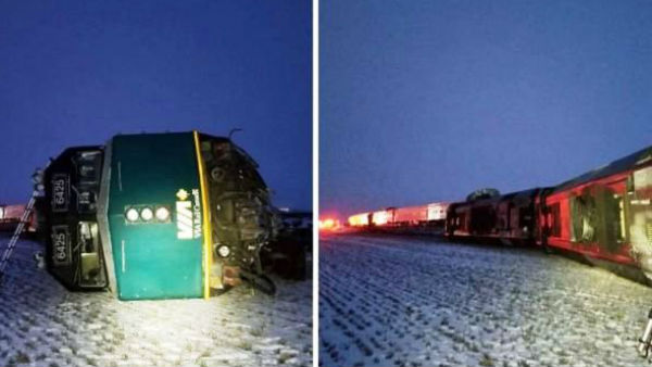 13 killed as train derails in Canadas Manitoba province
