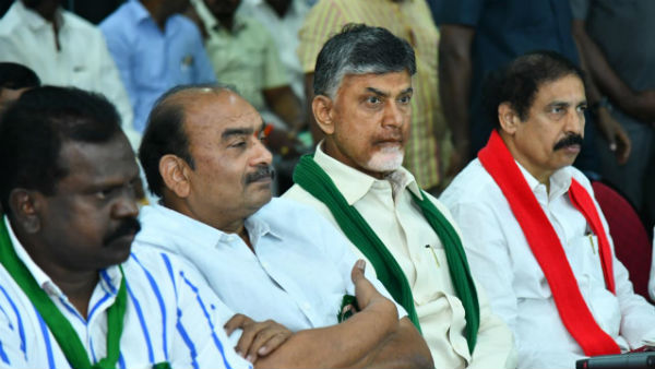 TDP Chief CBN warned Govt do not try to supress the agitation
