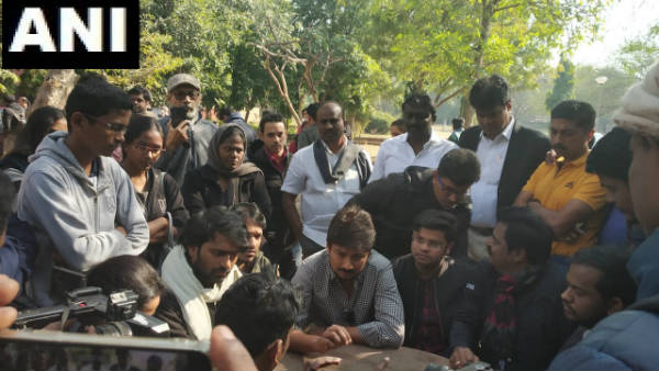 DMK youth wing leader Tamil actor Udhayanidhi Stalin met and interacted with students in JNU