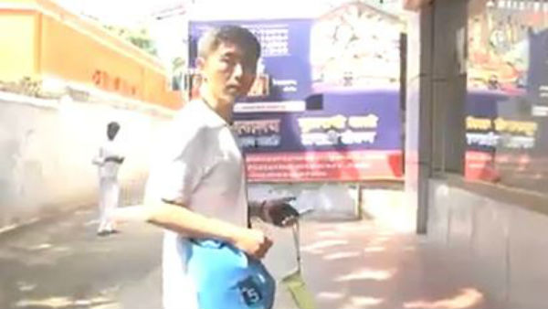 A Chinese tourist in Rameswaram asked to leave.