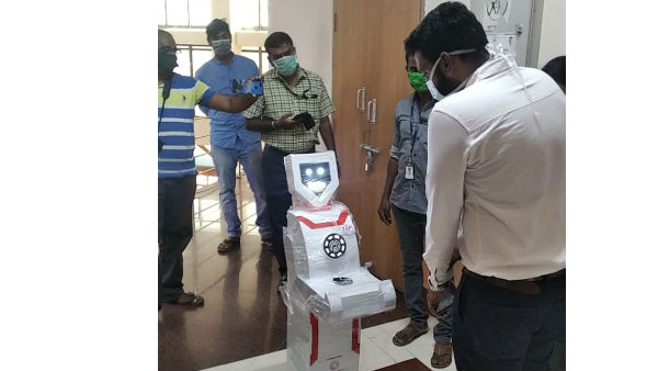 Tamil Nadu: humanoid robots to for delivering medicines to patients at COVID19 isolation ward