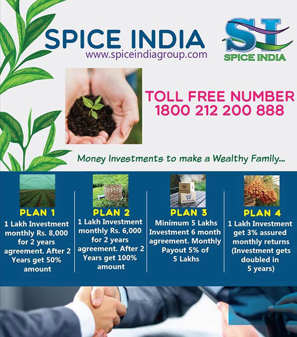 Handful standard Income from Spice India! An attractive choice from Tea Industry sector!