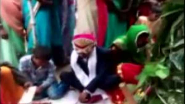 man marries a wooden effigy in uttar pradesh as his fathers wish