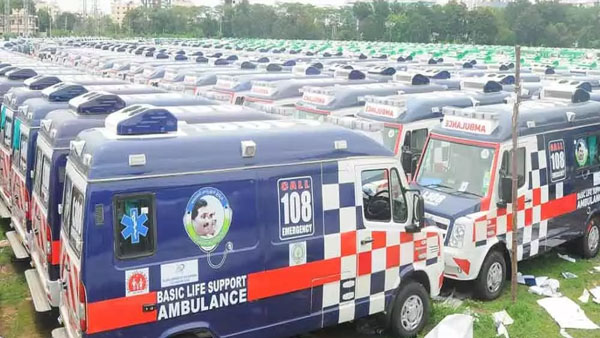 PM Narendra Modi Photo should be pasted on 108, 104 ambulances in AP: BJP MLC