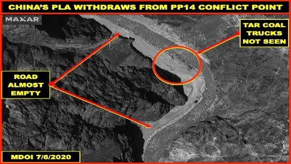 Satellite images confirm Chinese pullback from Galwan Valley..