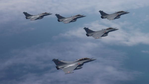 Rafale Fighter jets enter Indian Airspace, Two Sukhoi fighter jets escort to Ambala