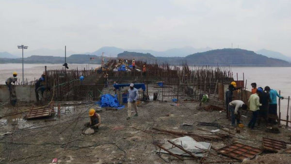 Polavaram Project works continues amid floods in Andhar Pradesh