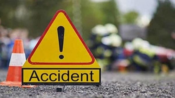 road accident a rtc bus collides a lorry in khammam district