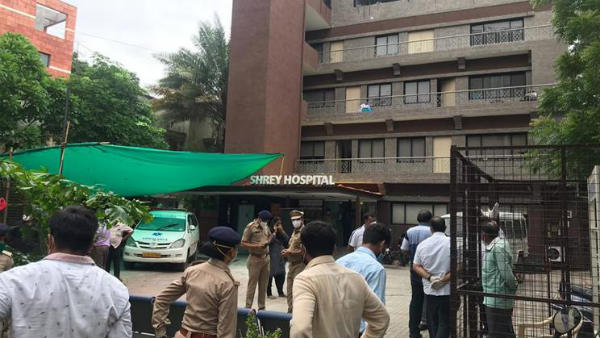 Fire breaks out at a COVID-19-designated hospital in Ahmedabad in Gujarat