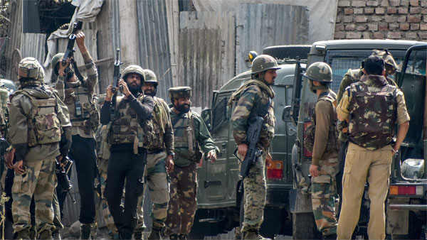 encounter between security forces and terrorists in Pulwama ... One terrorist, one soldier killed