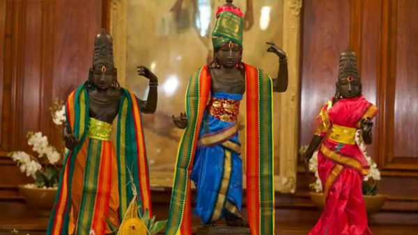 UK returns 15th century stolen idols of Lord Ram, Sita and Lakshman to India