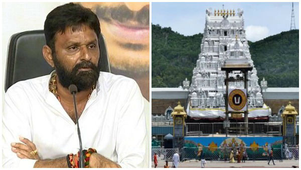 tirumala declaration must be removed, ap minister kodali nani reiterates his stand