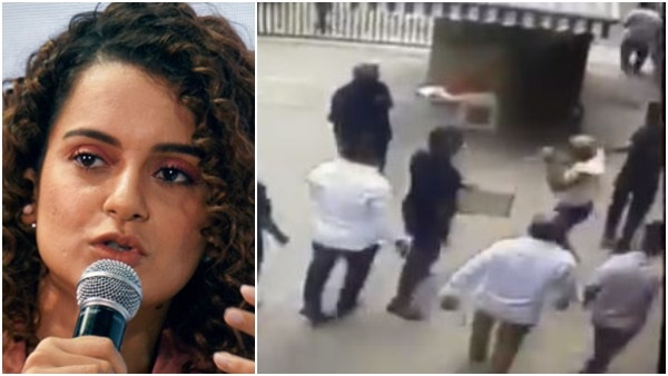 kangana ranaut retweets a video of shiv sena workers attack on former navy personnel