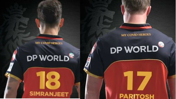 Kohli and Ab De villiers honour Covid heroes by wearing the jersey with former names
