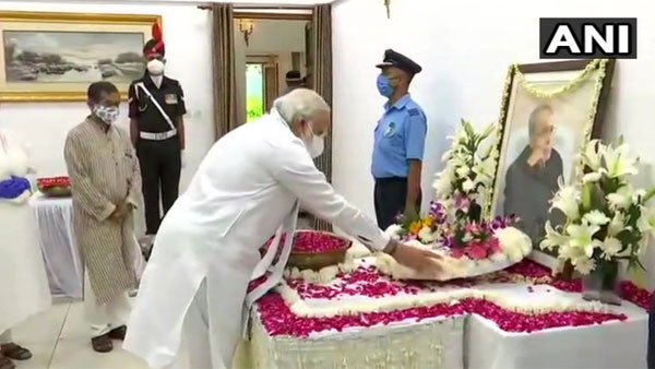 President, PM and few other prominent personalities pay last respects to former President Pranab