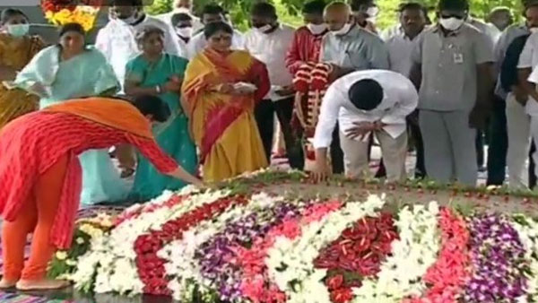 YSR 11th death anniversary: AP CM YS Jagan and Family Members Pay Tribute To YSR
